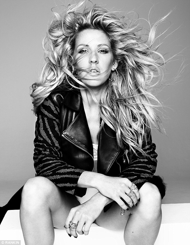 Ellie Goulding black and white photoshoot